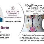 Enjoy a Complimentary Cake Pop from Connie Betz, Omaha Realtor