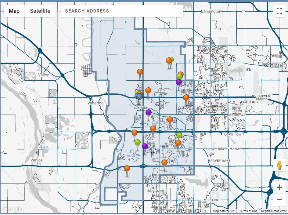 Elkhorn school district boundary map